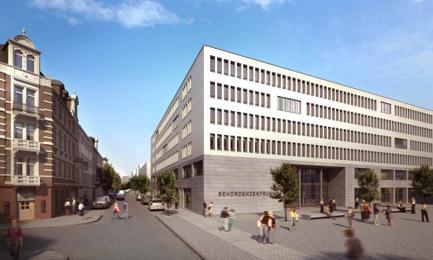 geplanten Behördenzentrum in der Bahnhofstrasse